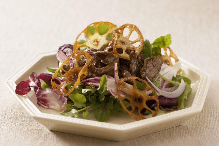 砂肝とクレソンのサラダ