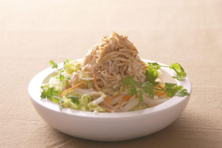 白菜とチキンの中華風サラダ