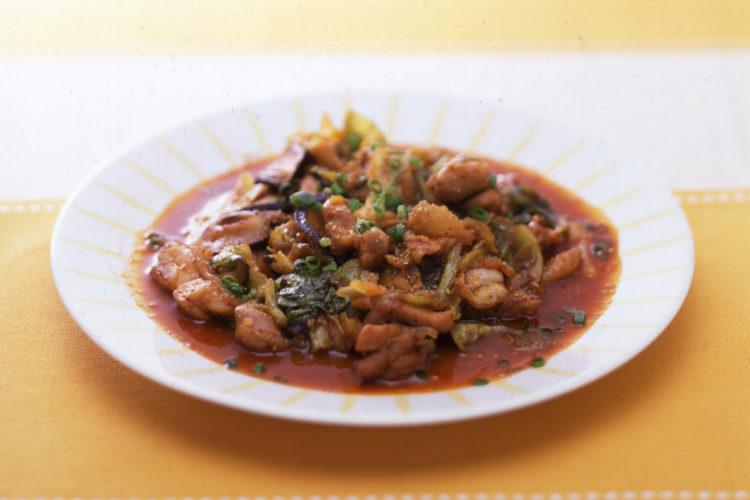 ダッカルビ(韓国風鶏肉炒め)