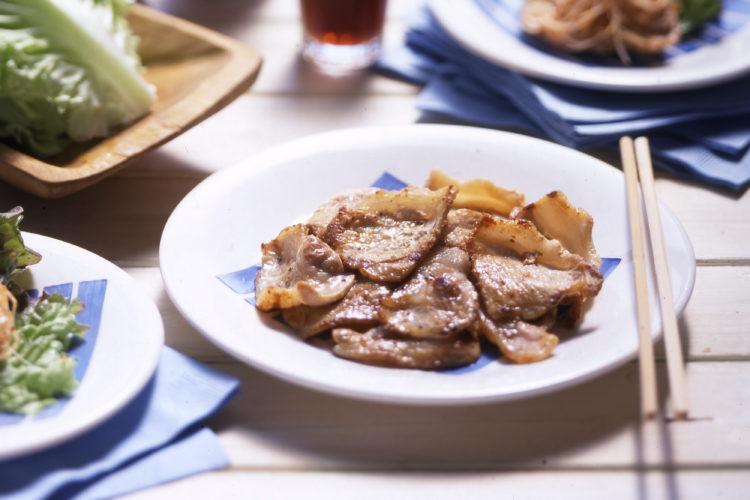 韓国風豚バラ焼き