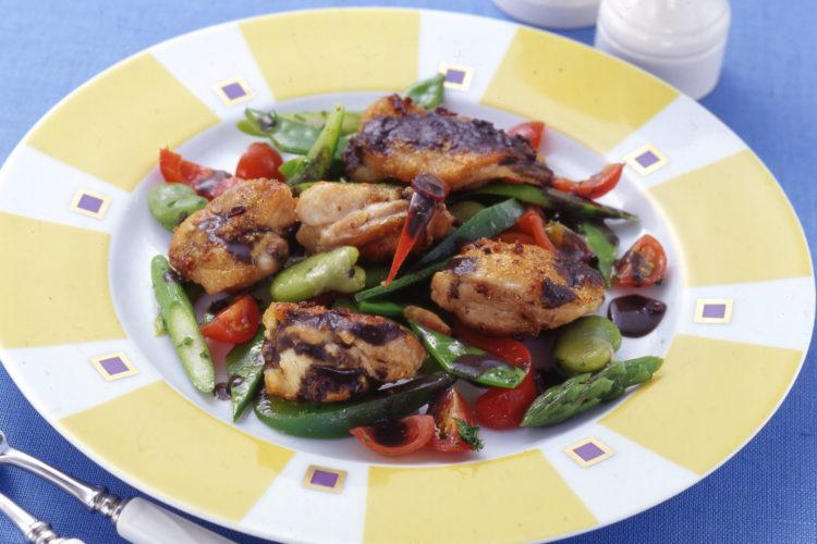 鶏と春野菜のソテー