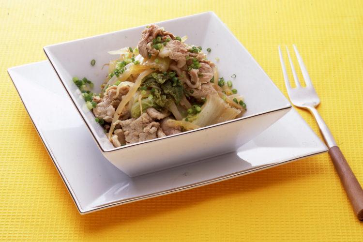 もやしと豚肉、白菜の重ね煮