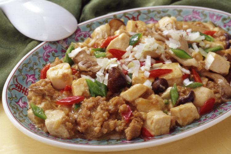 麻婆ごま豆腐