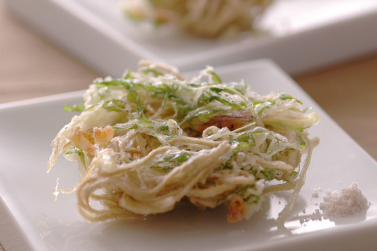 そばと水菜の天ぷら