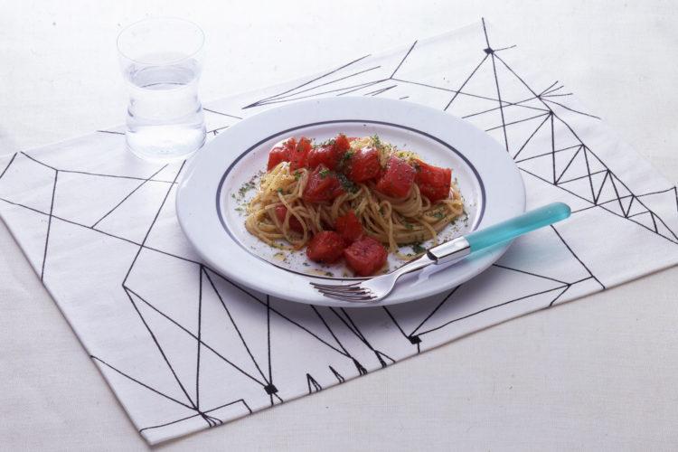 トマトの冷たいパスタ