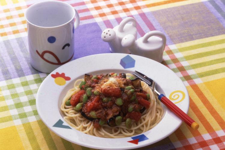 野菜のミートソーススパゲッティ