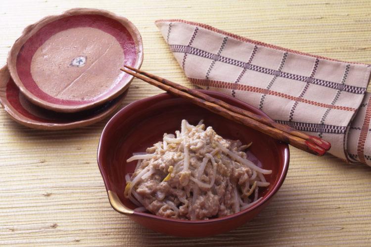 まーみーなすーねー(沖縄料理:もやしの酒かすあえ)