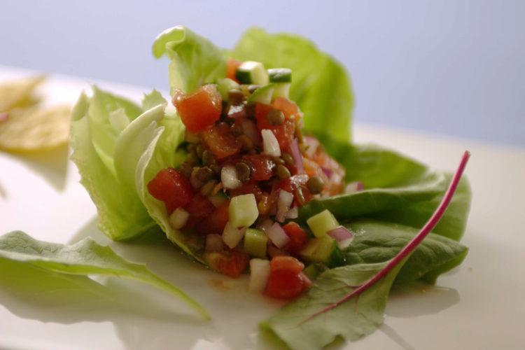レンズ豆のサルササラダ
