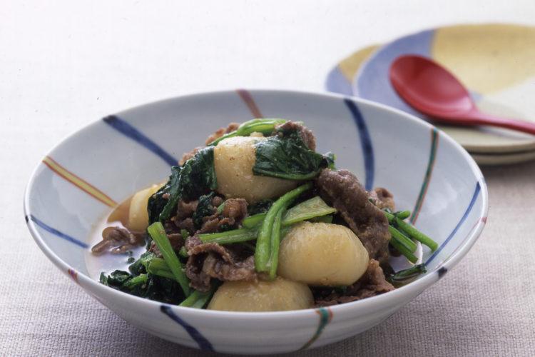 牛肉とかぶのごま炒め煮