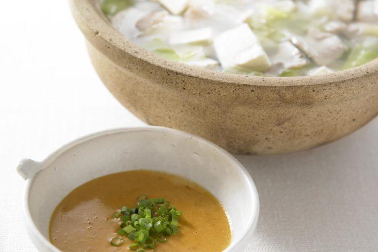 豚バラ、キャベツと豆腐の鍋