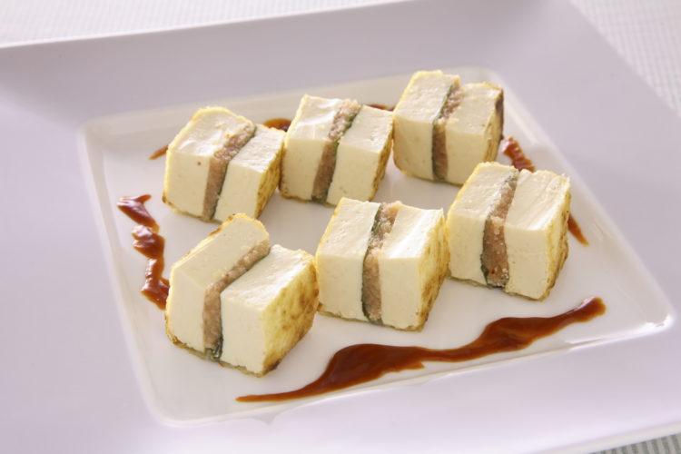 豆腐の明太子サンド