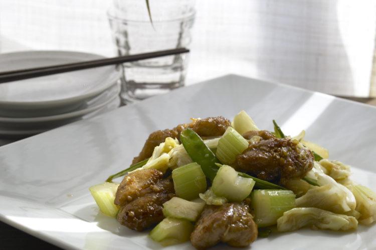 鶏肉と春野菜炒め