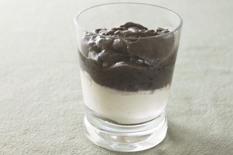 黒ごまプリンと豆花(トーファ)