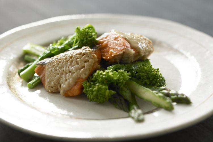 鮭のねりごまオーブン焼き