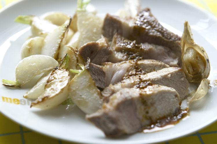 かぶと豚肉のソテー