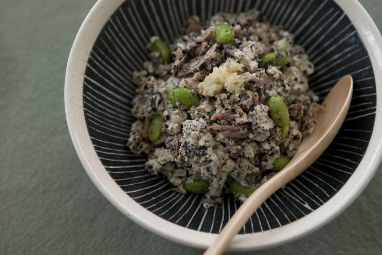 ツナと豆腐のすりごま和え
