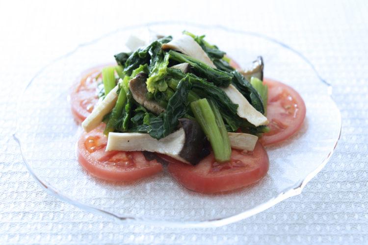 菜の花・エリンギ・トマトのマリネ