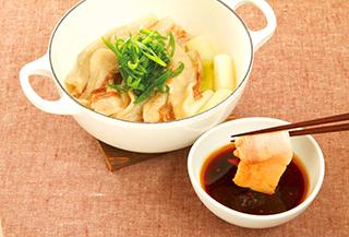 豚肉と長ねぎの蒸し鍋
