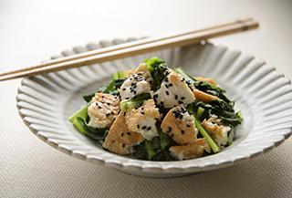 小松菜のごまホットサラダ