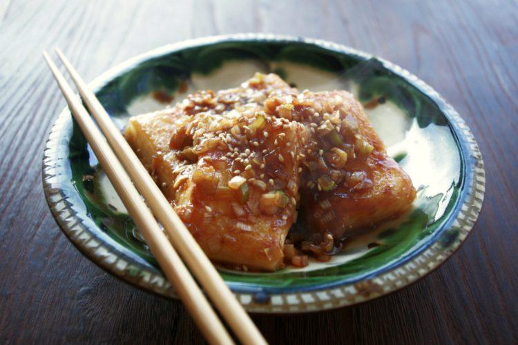 韓国風 餅のピリ辛じょうゆ煮