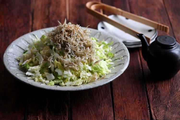 白菜のピリ辛しらす和えサラダ