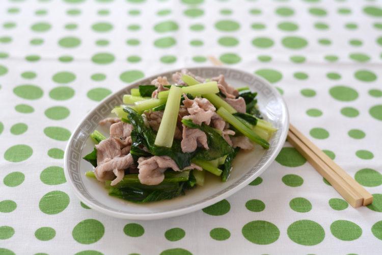 豚肉と小松菜の中華炒め