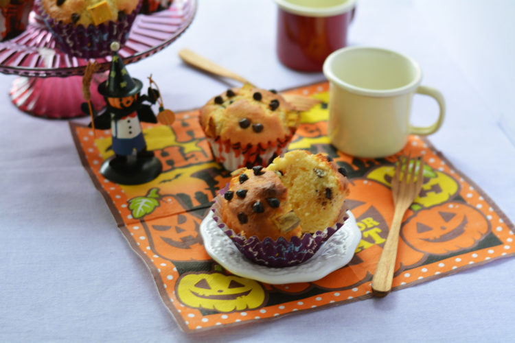かぼちゃとチョコチップのオイルマフィン