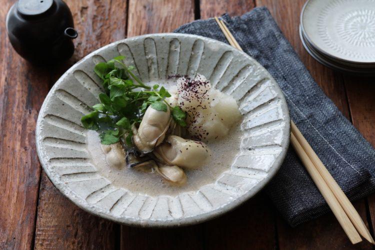 牡蠣(カキ)のオイル蒸し
