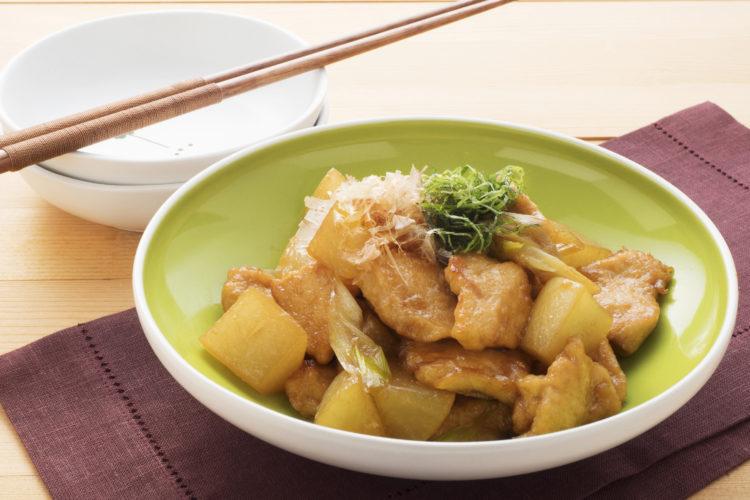 鶏むね肉と大根の炒め煮