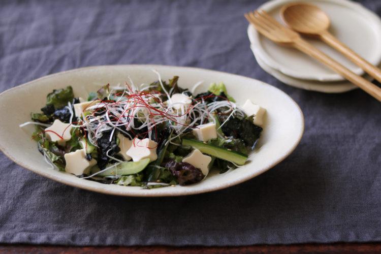 お豆腐のチョレギサラダ