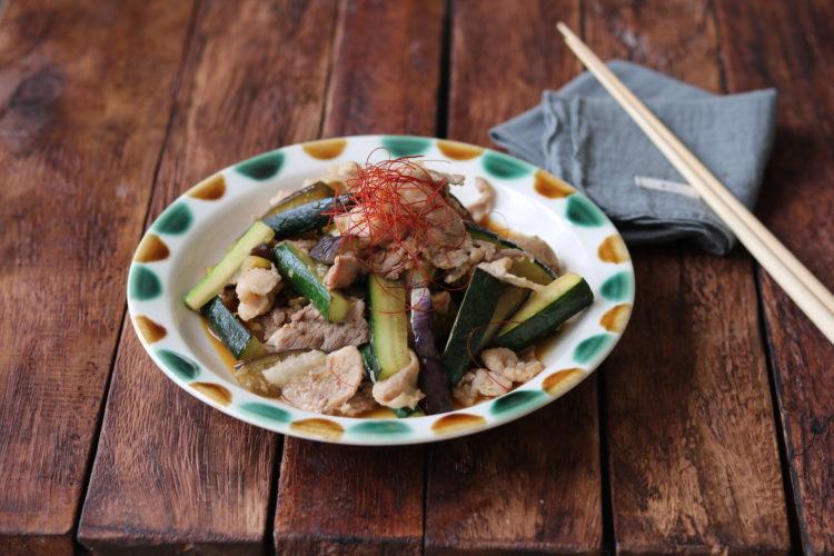 豚肉とズッキーニのピリ辛炒め