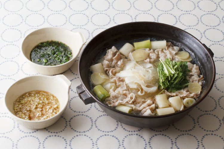 大根と豚バラのごま油鍋