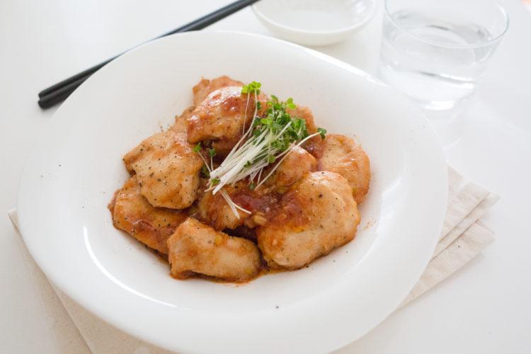 鶏むね肉の香味甘酢炒め