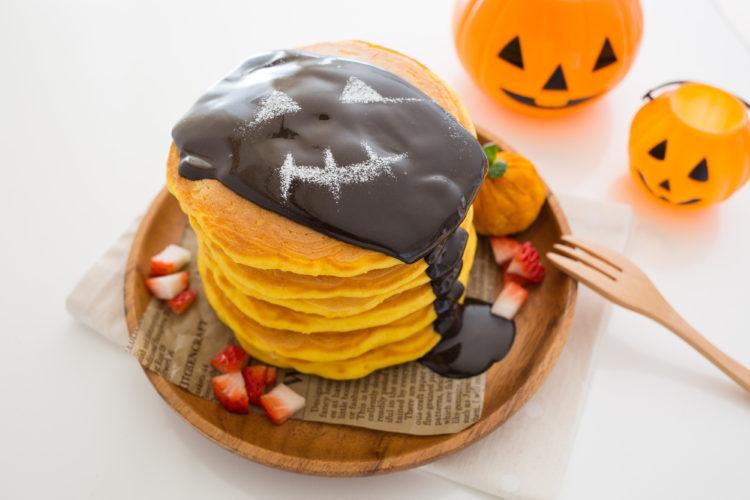 かぼちゃのブラックパンケーキタワー