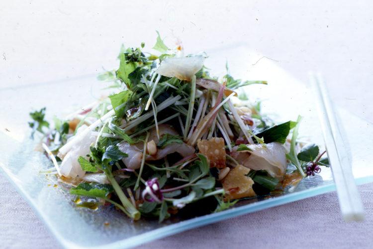 白身魚のお刺身サラダ