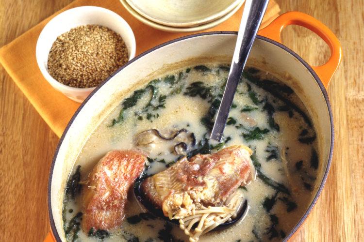 海鮮ごまミルク鍋
