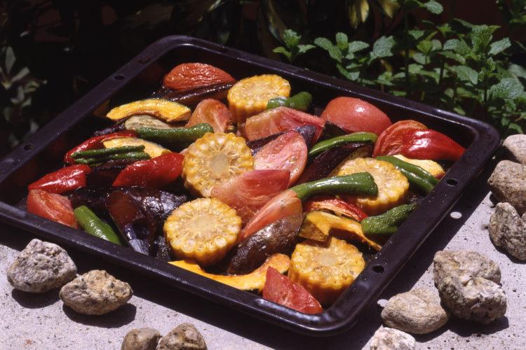 夏野菜たんまりオーブン焼き