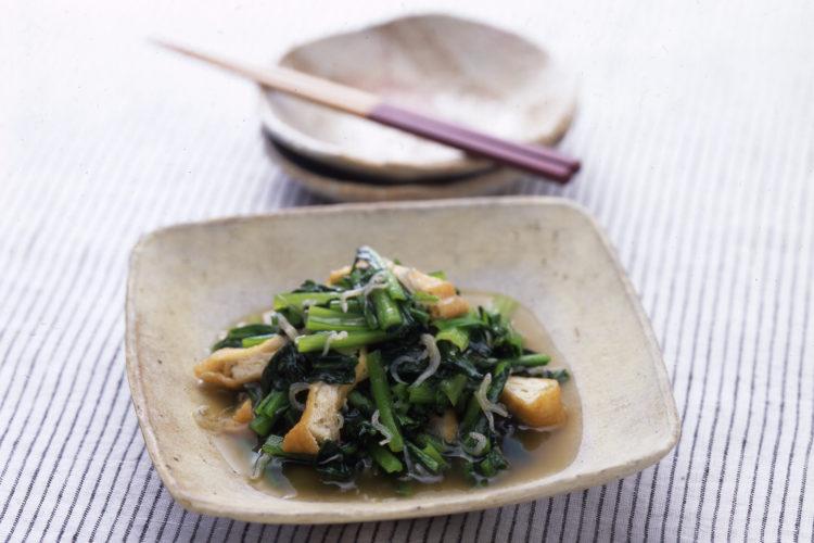 小松菜の炒め煮びたし