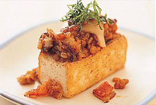 豆腐の金山寺ステーキ