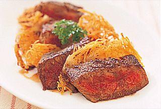 牛ステーキのバルサミコソース