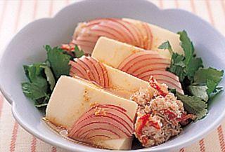 豆腐とかにのサラダ・わさびドレッシング