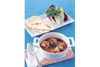 プリプリえびとカラフル豆のガーリックオイル煮