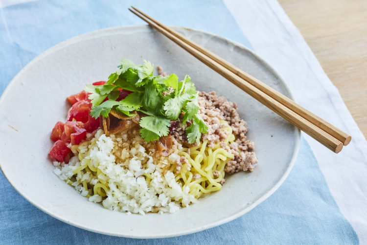 ひき肉とトマトの和え麺