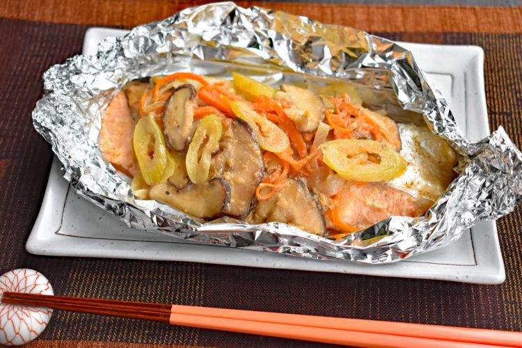 【下味冷凍】そのまま焼ける鮭のホイル焼き