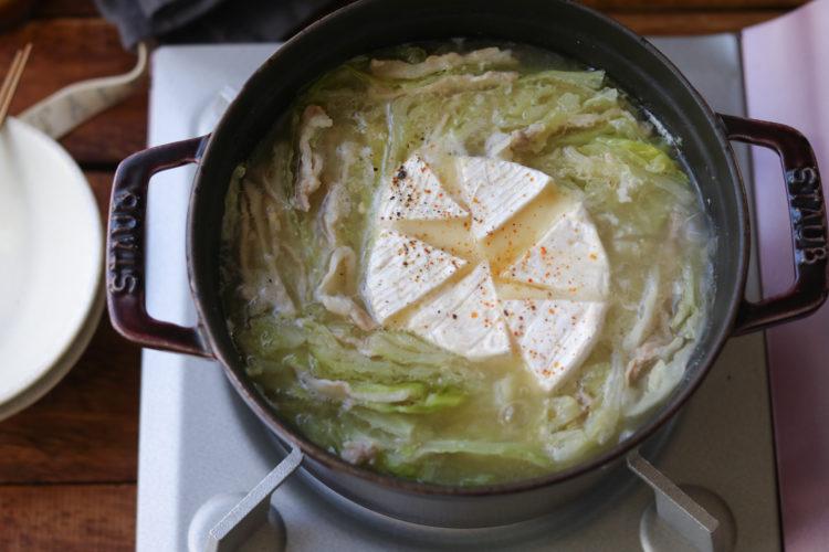 豚キャベツチーズ鍋