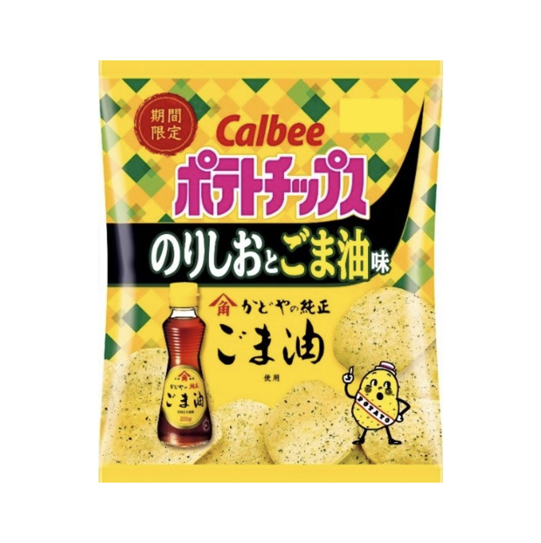 カルビー<br>ポテトチップスのりしおとごま油味