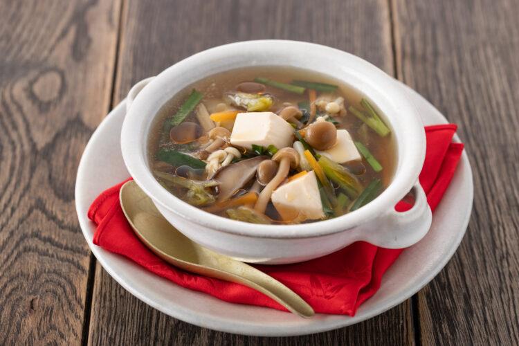 野菜たっぷり酸味スープ