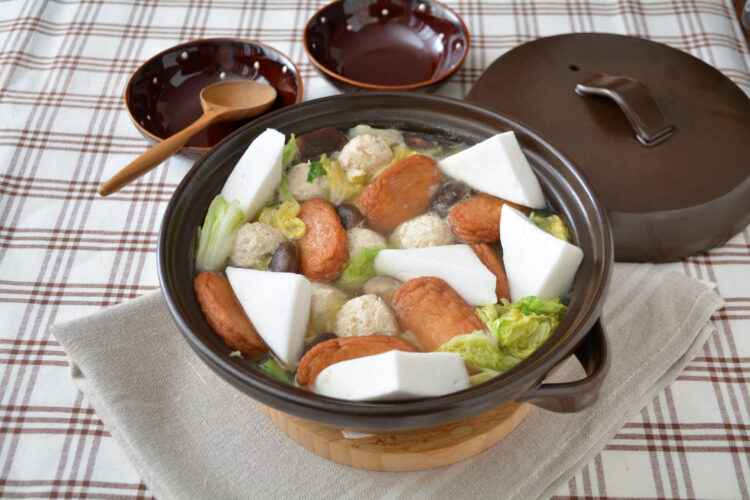 つくねとさつま揚げの中華風鍋