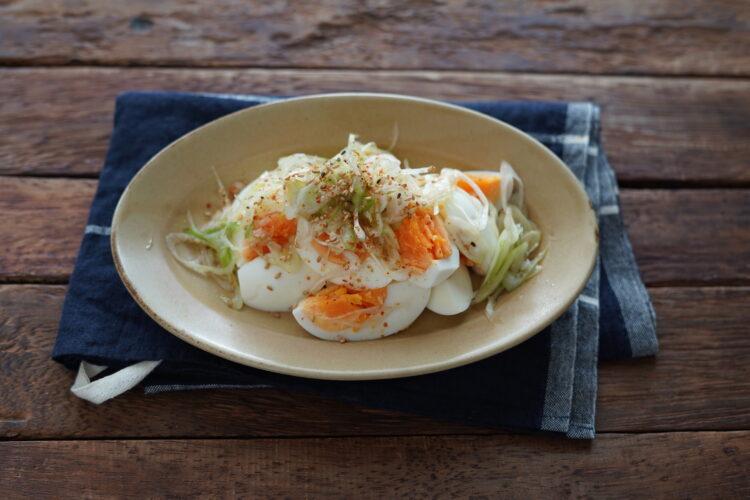 ゆで卵と長ねぎのナムル