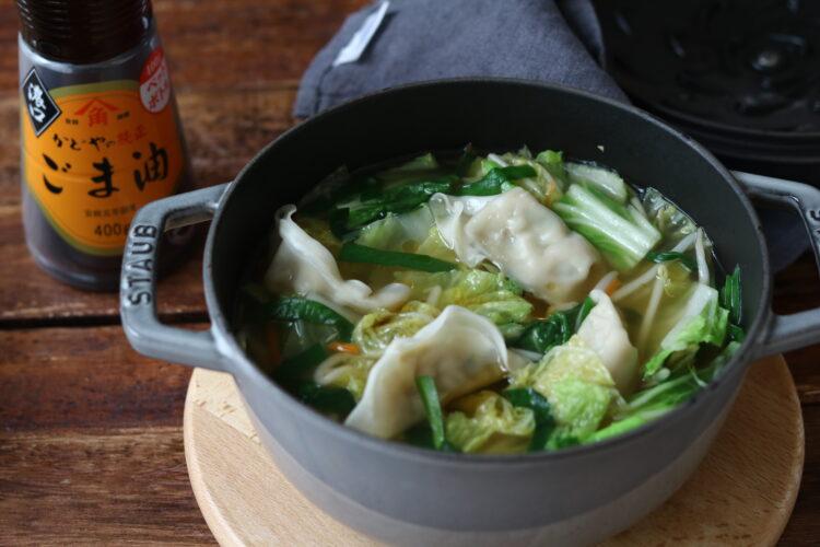白菜餃子スープ